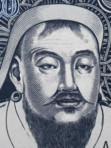 A portrait of Genghis Khan