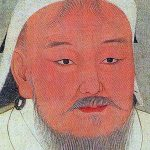 Drawing of Genghis Khan