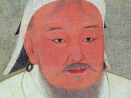 Drawing of Genghis Khan