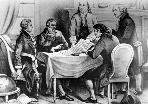 Drawing of the Committee of Five