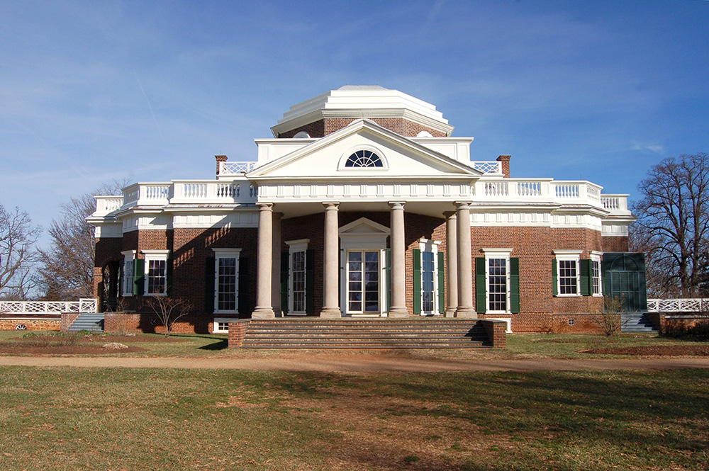 Thomas Jefferson's home, Monticello, in Charlottesville, VA