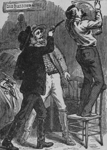 Drawing depicting the murder of Jesse James
