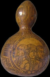 Gourd containing a presumed blood stain from Louis XVI