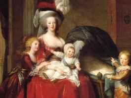 Portrait of Marie Antoinette with her children