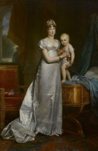 Empress Marie-Louise and her son Napoleon