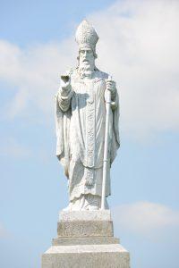Saint Patrick statue at the hill of Tara