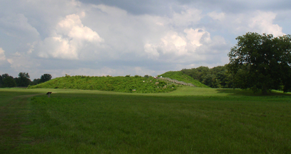 Main mound at the Angel Mounds Site