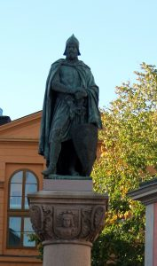 Fantasy statue of Birger jarl in Stockholm