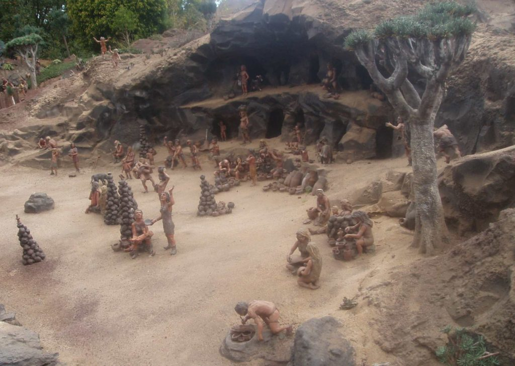 Reconstruction of a Guanche settlement of Tenerife