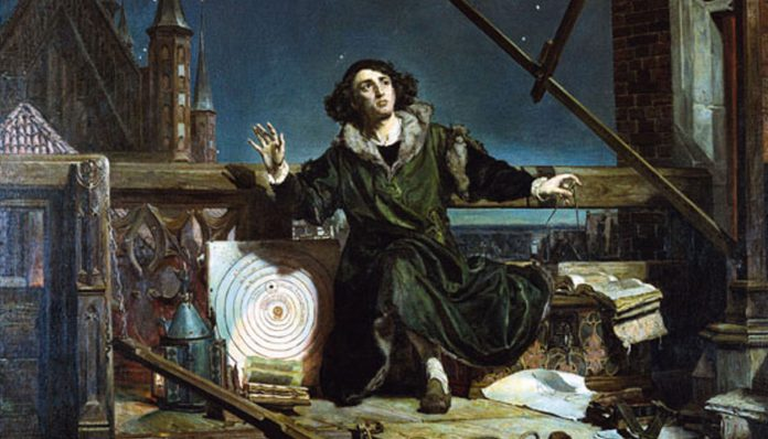 Drawing of Copernicus