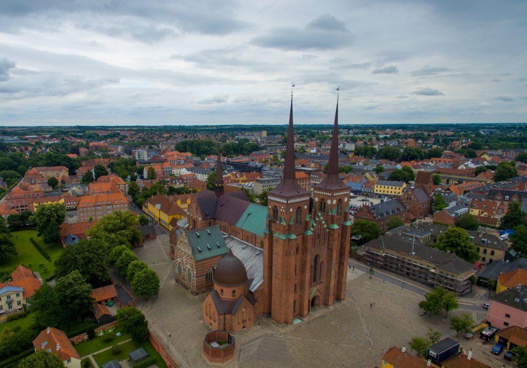 Roskilde Cathedral in Roskilde, Denmark