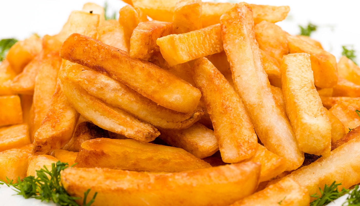 plate of greasy fries