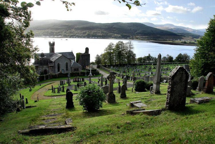 Kilmun Church and Holy Loch, Scotland