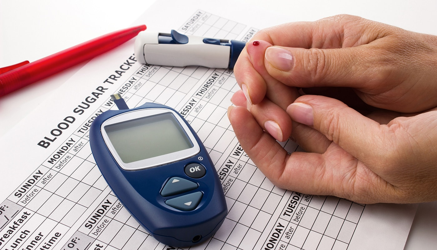 blood glucose check