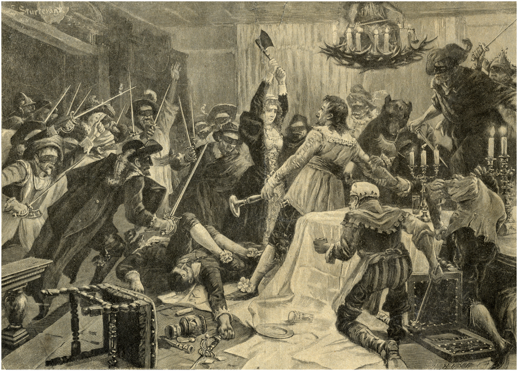 The assassination of Jenatsch during carnival