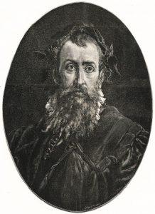 Portrait of Kochanowski by Józef Holewiński