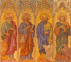 Fresco of the four Evangelists