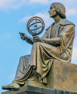 Statue of Copernicus in Warsaw, Poland