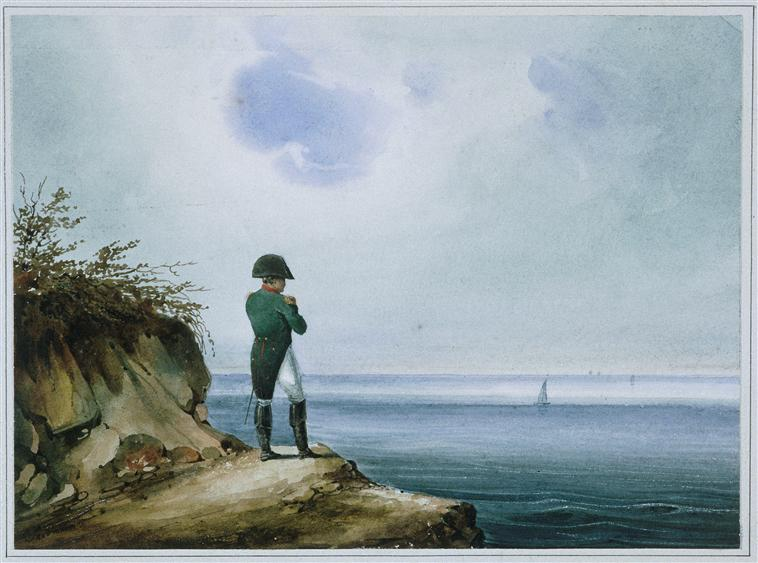 Napoleon on Saint Helena, watercolor by Franz Josef Sandmann