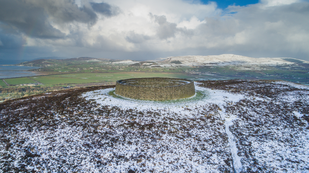 Grianan of Aileach. A stone ringfort, thought to have been built by the Northern Uí Néill, descendant of Niall