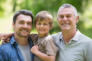 son, father and grandfather