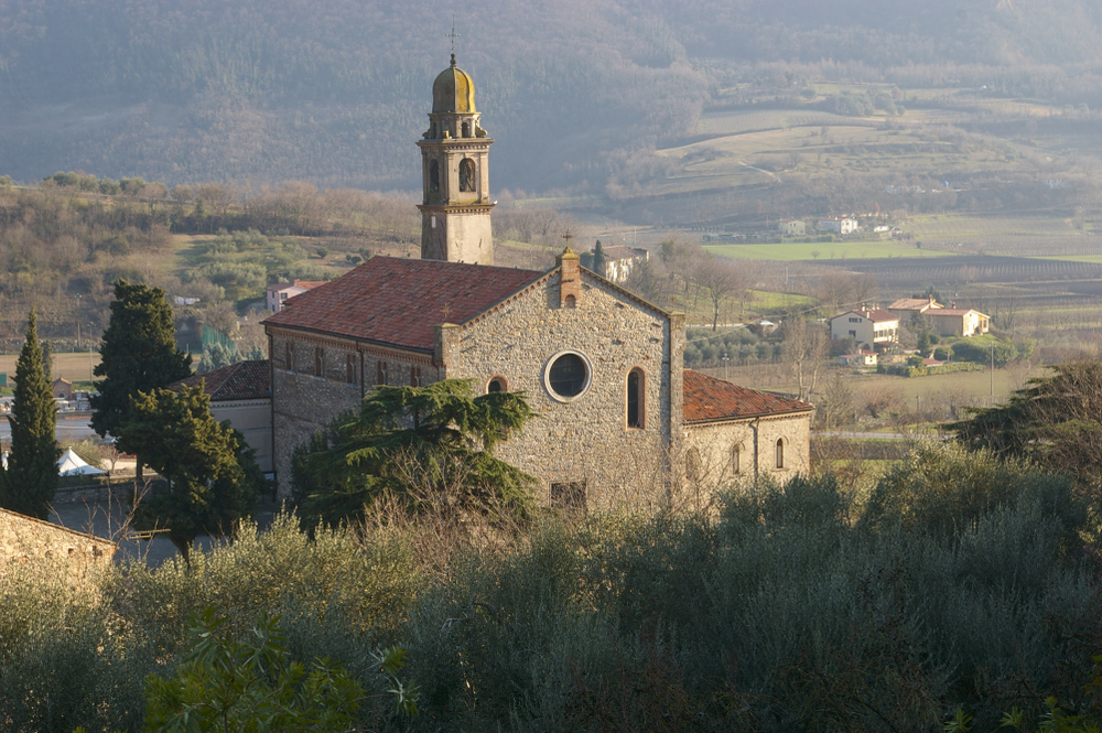 Arquà Petrarca, in the province of Padua, where he lived and died