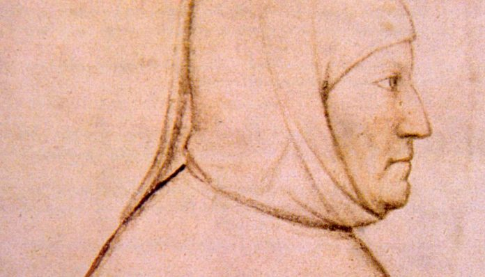 Drawing of Petrarch