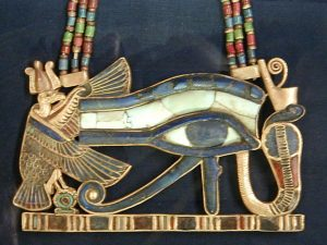 An Eye of Horus amulet