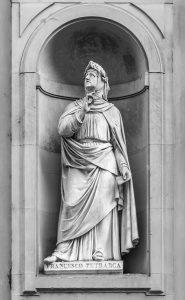 Statue of Francesco Petrarca in Florence