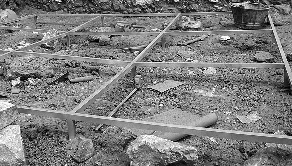 Excavation layout