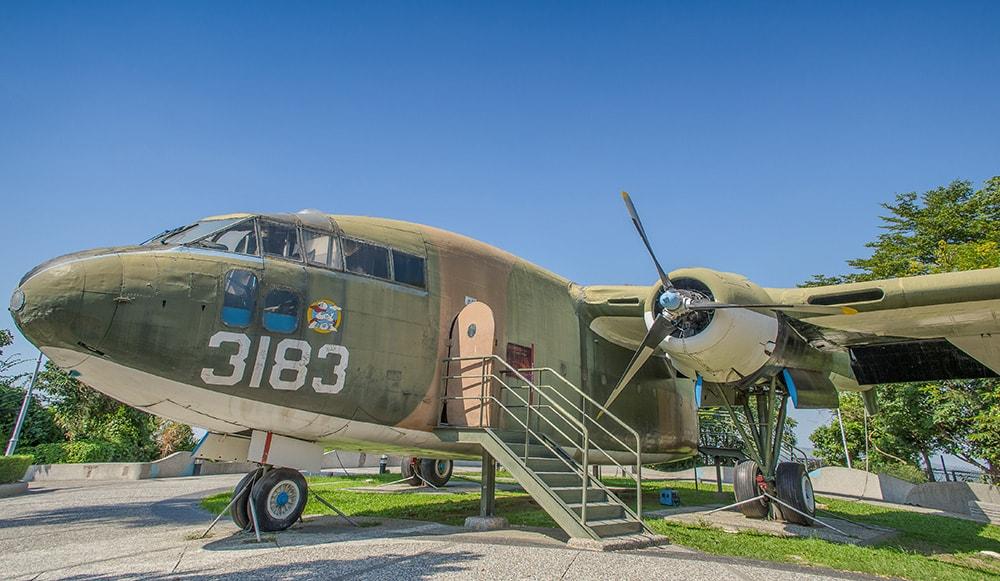 A C-119 military aircraft