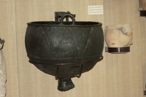 Scythian bowl found at Castelu, Romania. In display at Constanţa Museum of National History