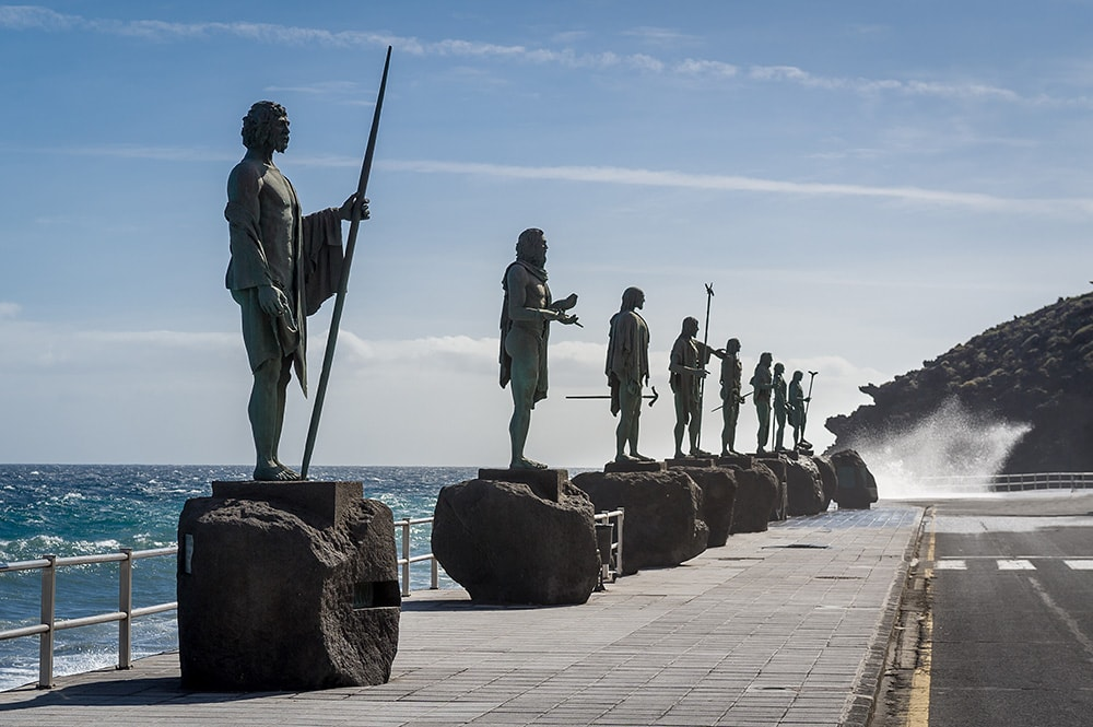 Guanches statues (Candelaria, Tenerife island)