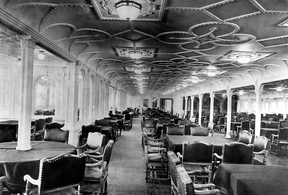 Dining room on the Titanic